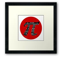 Pi Symbol Red  Framed Print