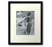 Gold Diggers, Uganda Framed Print