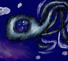 3 Legged Space Squid  by BashsArt