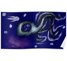 3 Legged Space Squid  Poster