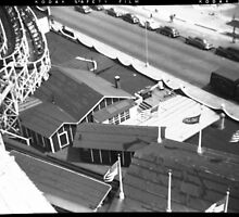 """The Cyclone"" Roller Coaster, Revere Beach - Cottage negative by ngscollection"