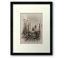 Shinjuku Streetscape Framed Print