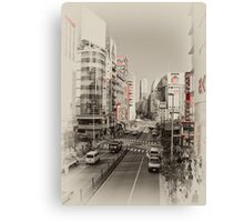 Shinjuku Streetscape Canvas Print