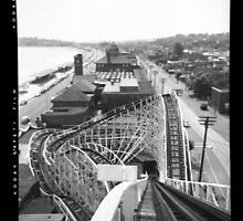 """The Cyclone"" Roller Coaster, Revere Beach - South negative by ngscollection"