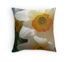 Shdowing Daffodils Throw Pillow