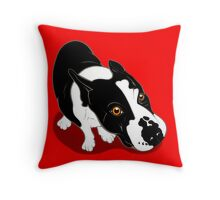 Mr Bull Terrier  Throw Pillow