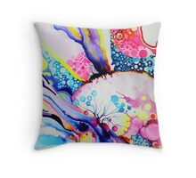 Infinite Flare - Watercolor Painting Throw Pillow
