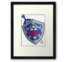 Sword and Shield Framed Print