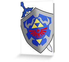 Sword and Shield Greeting Card