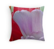 Lavender & Red Throw Pillow