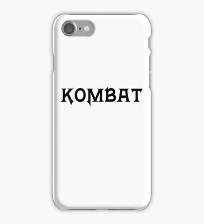 Kombat iPhone Case/Skin