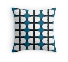 Fenced Turquoise Linkage Throw Pillow
