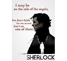Sherlock: The side of the angels Photographic Print