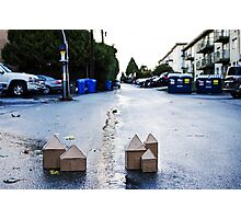 Cardboard Houses Pt 3 Photographic Print