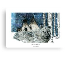 Lakota Winter Canvas Print