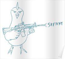 Sketchy Bird Poster