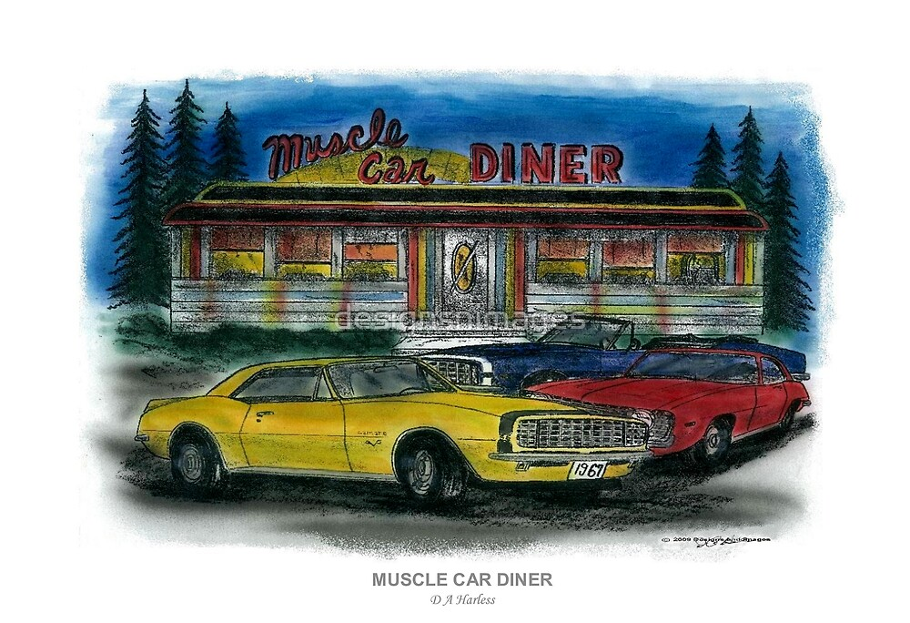 Muscle Car Diner by designsnimages