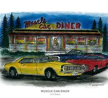 Muscle Car Diner by designsnimages
