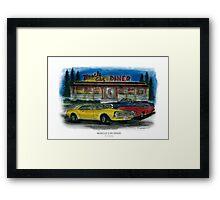 Muscle Car Diner Framed Print