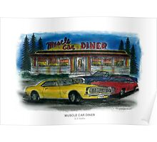 Muscle Car Diner Poster