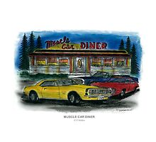 Muscle Car Diner Photographic Print