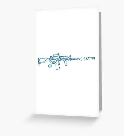 Sketchy Gun Greeting Card