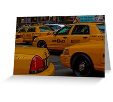 You can never get a cab when you want one... Greeting Card