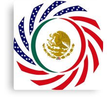 Mexican American Multinational Patriot Flag Series 1.0 Canvas Print