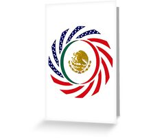 Mexican American Multinational Patriot Flag Series 1.0 Greeting Card