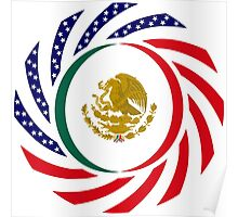 Mexican American Multinational Patriot Flag Series 1.0 Poster