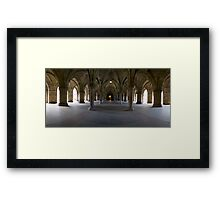 Glasgow University Cloisters. Framed Print