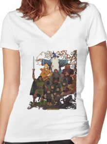 Fellowship of the Ring Women's Fitted V-Neck T-Shirt