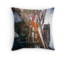 east village kaleidoscope Throw Pillow