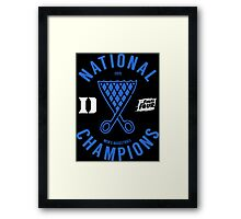 DUKE National Champions 2015 Basketball shirt, hoodie and more Framed Print