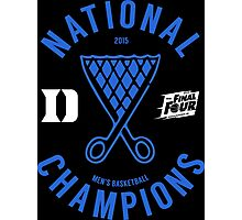 DUKE National Champions 2015 Basketball shirt, hoodie and more Photographic Print