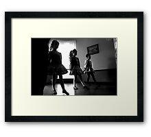 Irish dancers x3 Framed Print