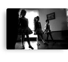 Irish dancers x3 Canvas Print