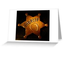 Rusty Sheriff`s Badge Greeting Card