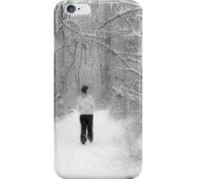 Snowy Walk in the Snowy Woods iPhone Case/Skin