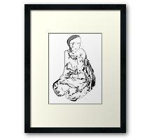 on bended knee 2 Framed Print