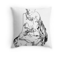 on bended knee 2 Throw Pillow