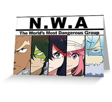 NWA- The world's most dangerous group (Kill la Kill) with color Greeting Card