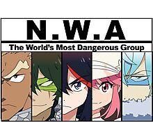 NWA- The world's most dangerous group (Kill la Kill) with color Photographic Print