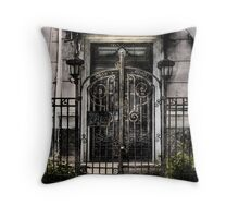 Abandoned gate Throw Pillow