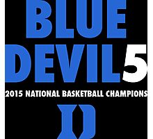 DUKE Blue Devils 5 National Championships 2015 shirt, hoodie and more Photographic Print