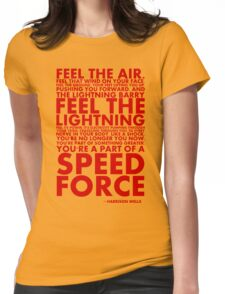 A Speed Force Womens Fitted T-Shirt