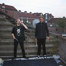 Ed and me working on our band flag (2005) by Sebastiaan Koenen