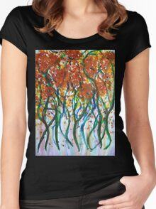 Dancing Flowers Women's Fitted Scoop T-Shirt