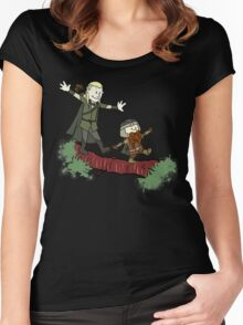 Calvin And Hobbes Lord of The Rings Women's Fitted Scoop T-Shirt