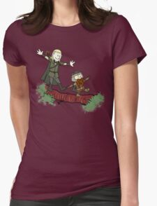 Calvin And Hobbes Lord of The Rings Womens Fitted T-Shirt